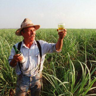 Spike holding Western Australian Rum